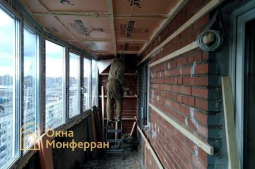 01 Монтаж остекления балкона