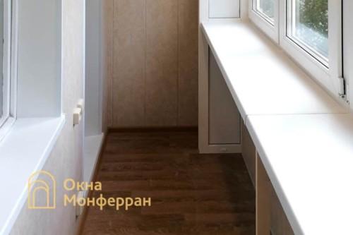 10 Отделка лоджии в 504 серии дома