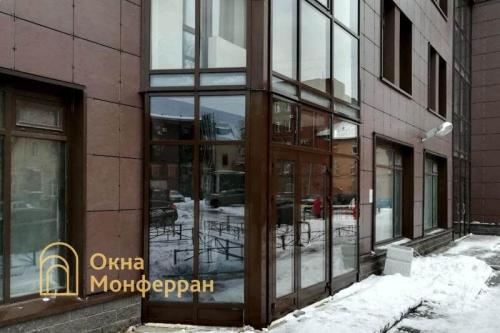 26 Монтаж тамбура из алюминиевого фасадного профиля, ул. Заставская