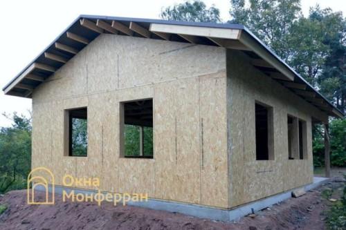 01 Каркасно-щитовой дом без остекления