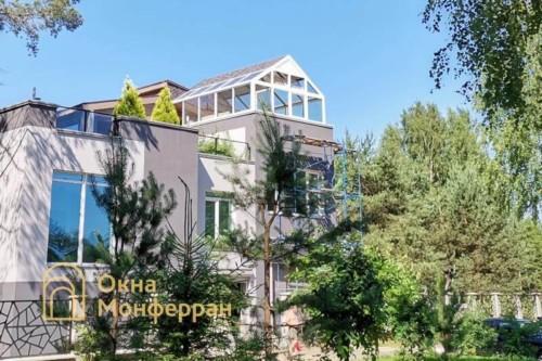 15 Теплое металлопластиковое остекление зимнего сада, пос. Павлово