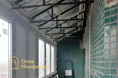 09 Монтаж крыши и установка створок