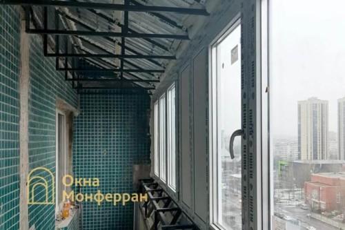 10 Монтаж крыши и установка створок