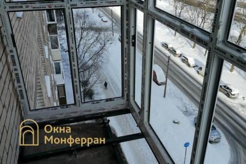 07 Монтаж остекления балкона с выносом пола
