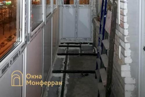 08 Монтаж остекления балкона с выносом пола