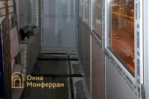 10 Монтаж остекления балкона с выносом пола