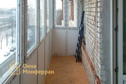13 Монтаж пола на балконе