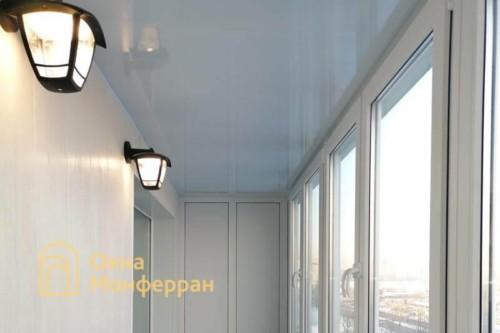 16 Отделка потолка балкона