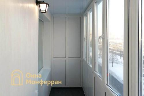 17 Отделка балкона с выносом пола