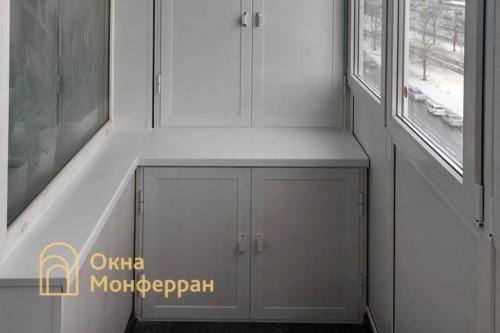18 Монтаж шкафа на балкон