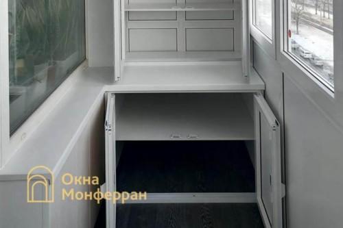 20 Монтаж шкафа на балкон