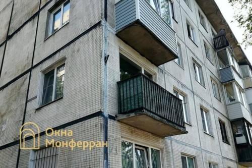 03 Балкон в хрущевке до выполнения работ