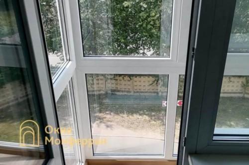 07 Остекление балкона в пол в хрущевке