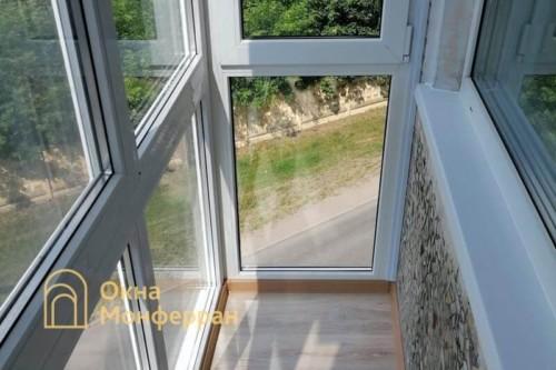 08 Остекление балкона в пол в хрущевке