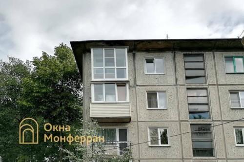 11 Остекление балкона в пол в хрущевке