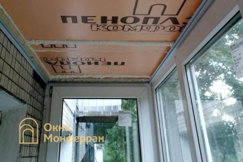 08 Утепление потолка пеноплексом
