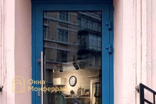08 Установка алюминиевой входной двери