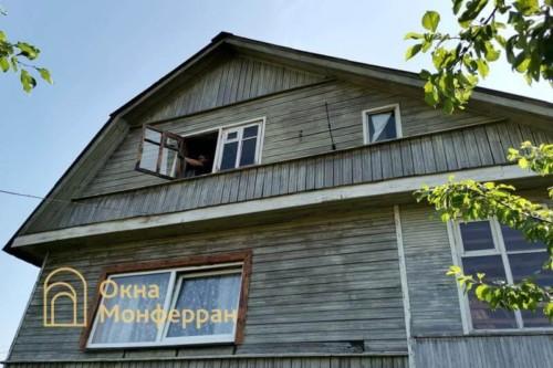 02 Установка пластиковых окон в деревянный загородный дом