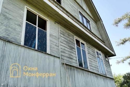 03 Установка пластиковых окон в деревянный загородный дом