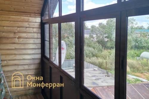 09 Монтаж холодного остекления веранды