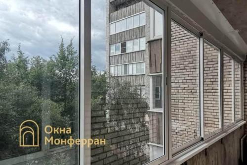 05 Холодное остекление шестиметровой лоджии профилем Проведал